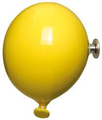 """Kleiderhaken / Wandobjekt """"Mini Balloon gelb"""", Keramik"""