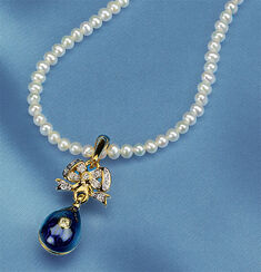 "Russian tsar egg necklace ""Anastasia"""