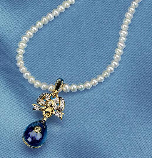 """Russian tsar egg necklace """"Anastasia"""""""