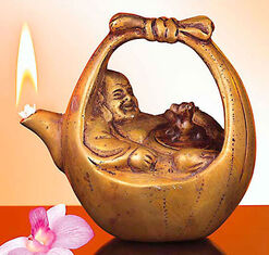 Happy Buddha oil lamp