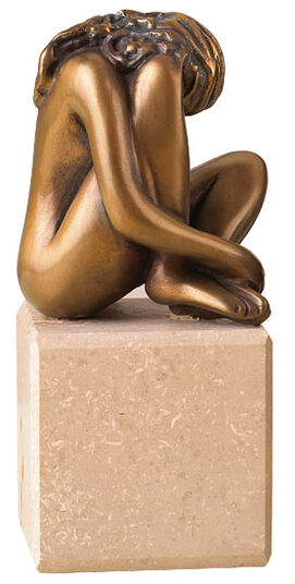 "Bruno Bruni: Sculpture ""La Speranza"", bronze on marble diabase plinth"