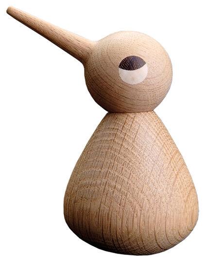 """Holzfigur """"Vogel naturfarben"""" (groß, Höhe 12 cm)"""