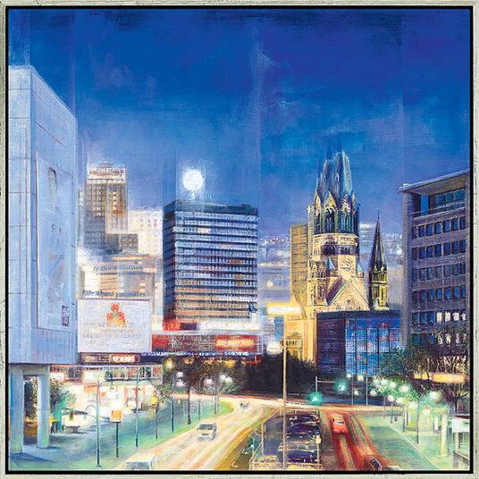 """Namazbek Chekirov: Bild """"Berlin by Night"""" (2008), gerahmt"""