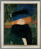 "Painting ""Lady with Hat and Feather Boa"" (1909) in the frame"