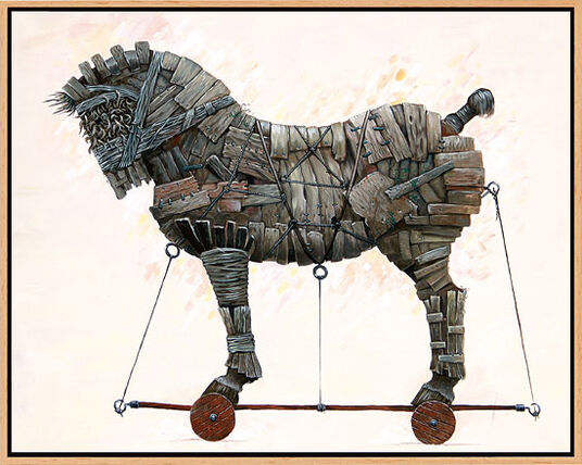 """Sascha Lunyakov: Bild """"Trojan"""" (2008), gerahmt"""