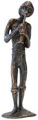 """Skulptur """"Flötenspieler"""", Bronze"""