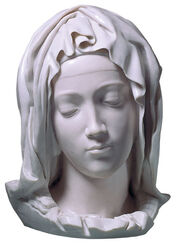 """The Head of Virgin Mary"", artificial casting."