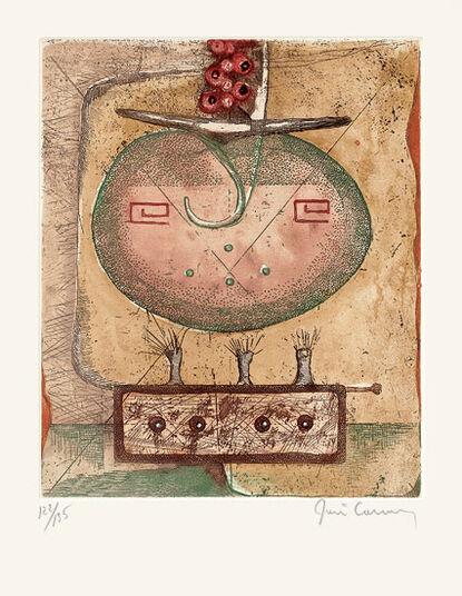 """René Carcan: Bild """"La Terre"""" (1975), ungerahmt"""