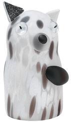 "Glass object ""Dog Peppino"" white version"