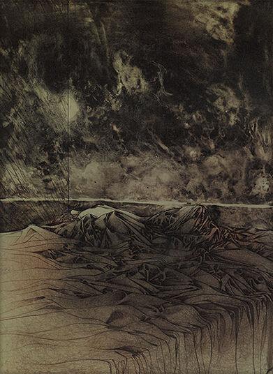 """Bruno Bruni: Bild """"A letto"""", 1974, ungerahmt"""