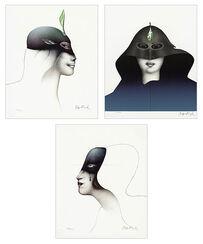 "Painting sequence ""Têtes des Femmes"""