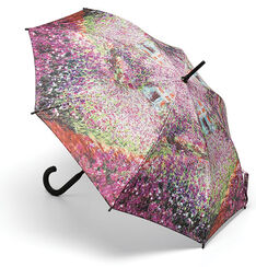 "Stick Umbrella ""Iris Flower Bed in Monet's Garden"""