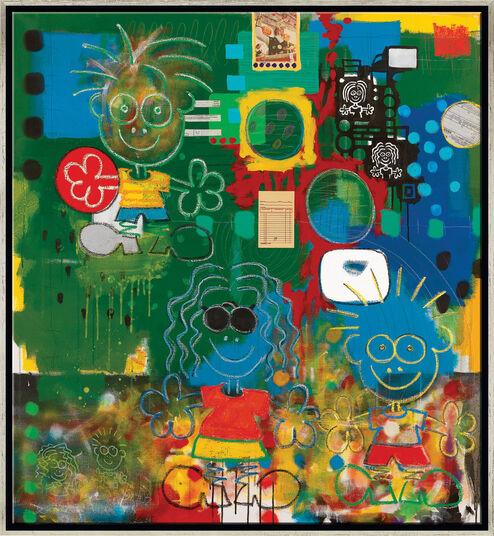 """Peter Elsner: Bild """"Redhanded"""" (2003), gerahmt"""