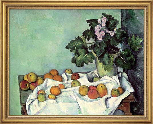 "Paul Cézanne: Painting ""Still Life with Apples and Primroses"", early 1890s"