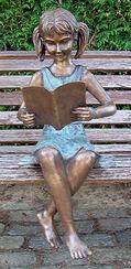 "Garden sculpture ""The Reading Girl"", bronze"