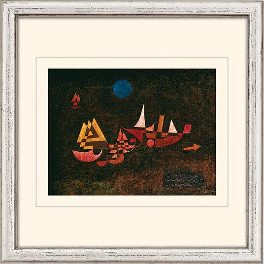 """Paul Klee: Bild """"Abfahrt der Schiffe"""" (1927), gerahmt"""
