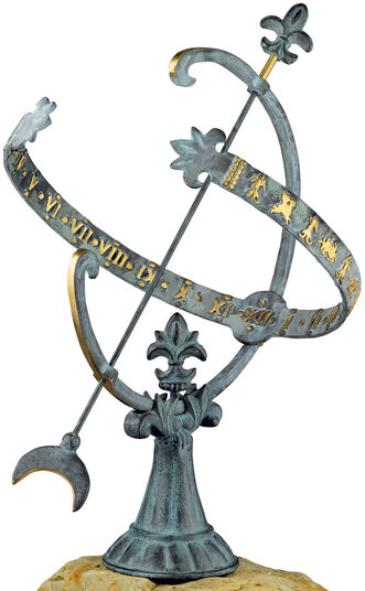 "Sundial ""Versailles"", bronze"