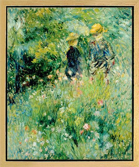 """Auguste Renoir: Bild """"Begegnung im Rosengarten"""", gerahmt"""