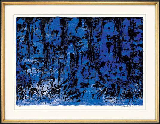 "Trondur Patursson: Bild ""Naturinspiration (blau)"" (2003), gerahmt"
