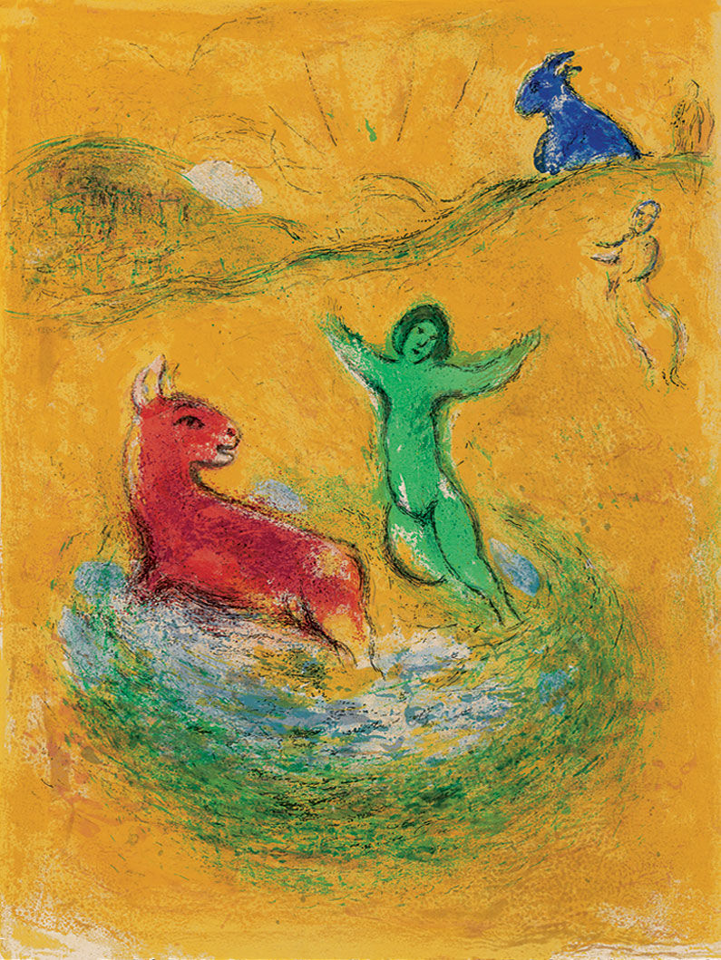 marc chagall bild le pi ge loups 1960 61 artes. Black Bedroom Furniture Sets. Home Design Ideas