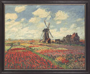 "Bild ""Tulpenfeld in Holland"" (1872), gerahmt"