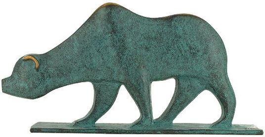 "Raimund Schmelter: Animal Sculpture ""Bar"", Bronze"