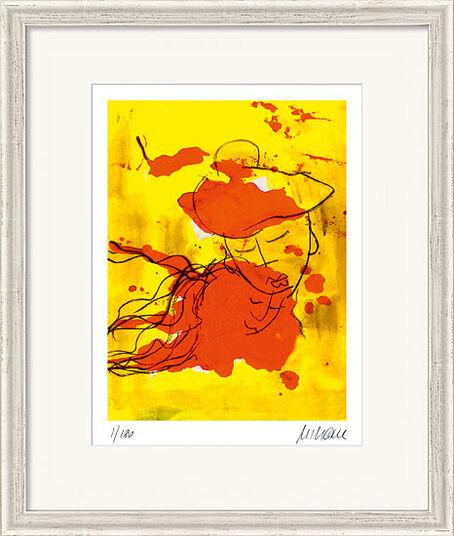 """Armin Mueller-Stahl: Bild """"Liebende (nach Marc Chagall)"""" (2015), gerahmt"""