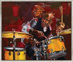 """Bild """"Drummer in Motion"""", gerahmt"""