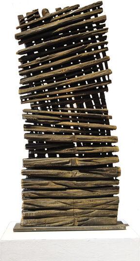 "Alexander Heil: Skulptur ""Zeit"" (2015) (Unikat), Eichenholz"