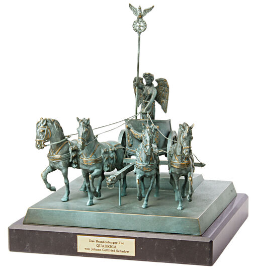 "Johann Gottfried Schadow: ""Quadriga"", Bronze"
