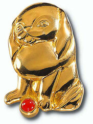 """Chinesisches Tierkreiszeichen """"Hund"""" mit Glücksstein Karneol, Collier"""