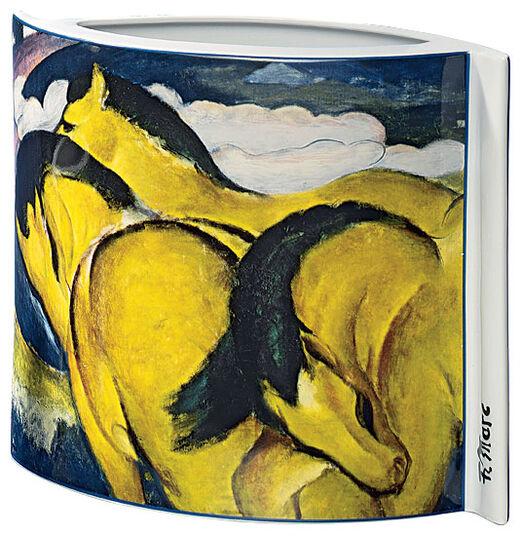 """Franz Marc: Porzellanvase """"Kleine gelbe Pferde"""" (1912)"""