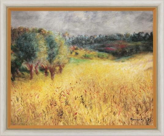 "Auguste Renoir: Bild ""Das Kornfeld"" (1879), gerahmt"