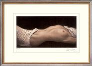 """Bild """"Liegende mit zwei Tüchern II"""" (2006), ungerahmt"""