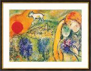 """Bild """"Die Liebenden von Vence"""" (1957), gerahmt"""