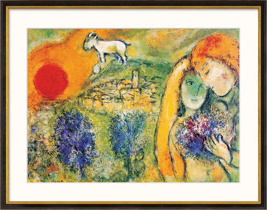 """Marc Chagall: Bild """"Die Liebenden von Vence"""" (1957), gerahmt"""