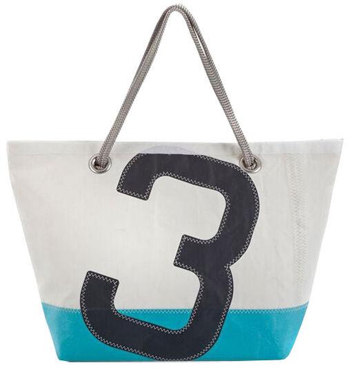 """Maritime Segeltuch-Tasche """"Sailbag Carla"""", blau-graue Version"""