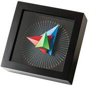 """Zeitkunst-Designuhr """"Triangle"""", Version als Wanduhr"""