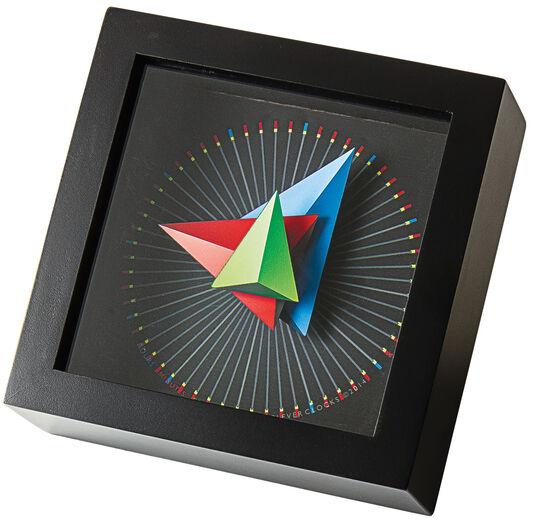 """Zeitkunst-Designuhr """"Triangle"""", Version als Tischuhr"""