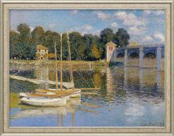 """Bild """"Die Brücke von Argenteuil"""" (1874), gerahmt"""