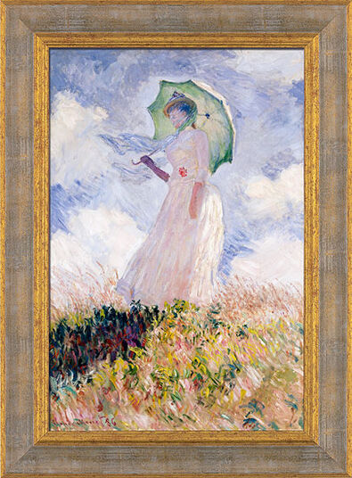 "Claude Monet: Picture ""Woman with a Parasol"" (1886) gallery frame"