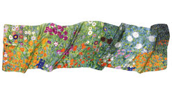 "Silk scarf ""cottage garden"""