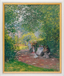 "Painting ""In Park Monceau"" (1878), framed"
