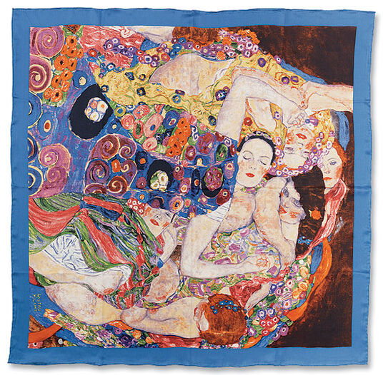 "Gustav Klimt: Silk scarf ""The Virgin"""
