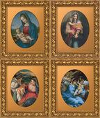 Vier Madonnenbildnisse der Renaissance im Set