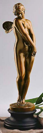 "Gustav Eberlein: Skulptur ""Psyche"", Version in Bronze"