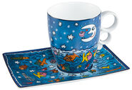 "Kaffeetasse ""Moon, Stars, Fish and Sea"", Porzellan"