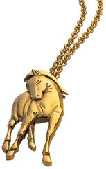 """pendant """"Hommage à Franz Marc"""" with chain, 925 sterling silver plated"""