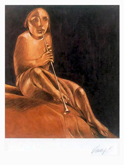 "Giuliano Vangi: Bild ""Musica"" (1979), ungerahmt"