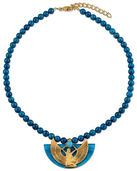 Necklace 'The Wings of Isis' with blue lapis lazuli beads